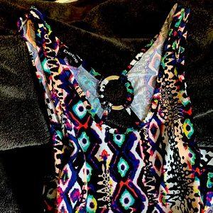 Stunning Bebe open ring back maxi